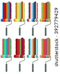 collection of paint rollers... | Shutterstock . vector #392779429