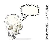 cartoon ancient spooky skull... | Shutterstock .eps vector #392780035