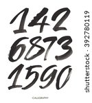 vector set of calligraphic... | Shutterstock .eps vector #392780119