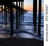 sunrise at fishing pier in... | Shutterstock . vector #392782867