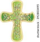 celtic cross. abstract artistic ...   Shutterstock .eps vector #392803495