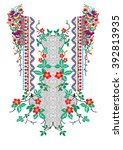 ethnic neck embroidery for... | Shutterstock .eps vector #392813935