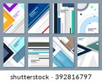 abstract backgrounds set.... | Shutterstock .eps vector #392816797