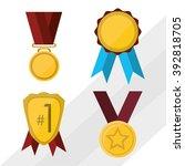 winner icon design | Shutterstock .eps vector #392818705