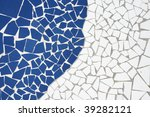 white and blue mosaic background | Shutterstock . vector #39282121