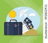 travel icon design | Shutterstock .eps vector #392822911