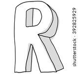 alphabet font r cute  hand drawn   Shutterstock . vector #392825929