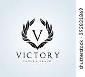 victory logo hotel logo luxury... | Shutterstock .eps vector #392831869