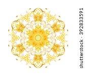 gold mandala indian holiday... | Shutterstock . vector #392833591
