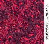 colorful harmonious doodle... | Shutterstock .eps vector #392835214
