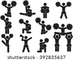 cheerleader team icon set | Shutterstock .eps vector #392835637