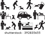 muscle weakness dog icon | Shutterstock .eps vector #392835655