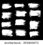 grunge shapes  set  white... | Shutterstock .eps vector #392843071