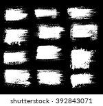 grunge shapes  set  white...   Shutterstock .eps vector #392843071