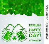 happy st. patrick's day... | Shutterstock .eps vector #392846521