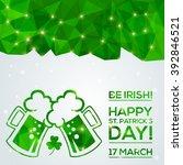 happy st. patrick's day... | Shutterstock .eps vector #392846521