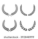 laurel wreaths vector set.... | Shutterstock .eps vector #392848999