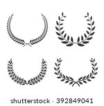 laurel wreaths vector set.... | Shutterstock .eps vector #392849041