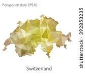 switzerland map in geometric... | Shutterstock .eps vector #392853235