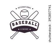 baseball logo badge   Shutterstock .eps vector #392857741