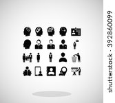 business man icons | Shutterstock .eps vector #392860099