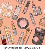 make up pattern. | Shutterstock .eps vector #392865775