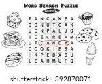 educational game for kids  word ... | Shutterstock .eps vector #392870071