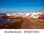 view on el cotillo coastal... | Shutterstock . vector #392871541