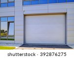 details of gray facade made of... | Shutterstock . vector #392876275