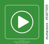 play button web icon | Shutterstock .eps vector #392877055