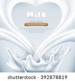 vector. milk splash in the form ... | Shutterstock .eps vector #392878819
