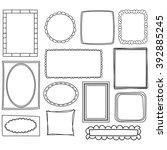 cartoon frames vectors | Shutterstock .eps vector #392885245