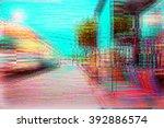 screen glitch texture | Shutterstock . vector #392886574