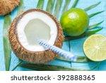 exotic freshly squeezed juice... | Shutterstock . vector #392888365