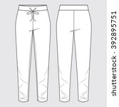 trackpants  trackies  casual... | Shutterstock .eps vector #392895751