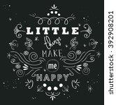 inspirational hand written... | Shutterstock .eps vector #392908201