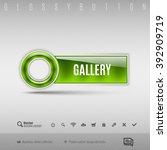 green modern plastic button...