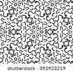abstract black and white ethnic ... | Shutterstock .eps vector #392923219