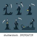 grim reaper  vector illustration | Shutterstock .eps vector #392926729