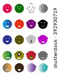 face icons color line series | Shutterstock .eps vector #392930719