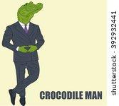 cartoon character crocodile | Shutterstock .eps vector #392932441