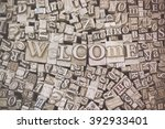 close up of old used metal... | Shutterstock . vector #392933401