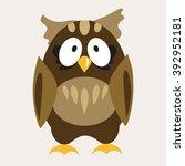 owl flat vector illustration 2 | Shutterstock .eps vector #392952181