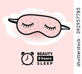 beauty  sleep  mask  for... | Shutterstock .eps vector #392957785