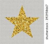 trendy stars color vector  on... | Shutterstock .eps vector #392958667