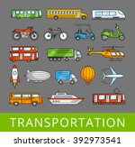 city transport collection.... | Shutterstock .eps vector #392973541