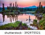 a smoky haze hangs over the... | Shutterstock . vector #392975521