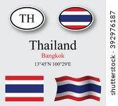 thailand set against gray... | Shutterstock . vector #392976187