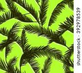 tropical leaves  dense jungle.... | Shutterstock .eps vector #392978539