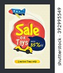 sale on toys banner  sale... | Shutterstock .eps vector #392995549